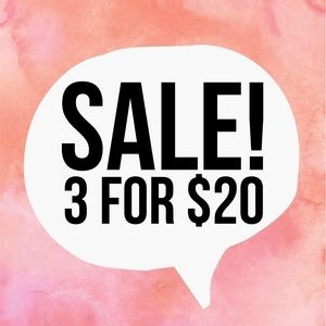 3 for 25$ all items 25 & under